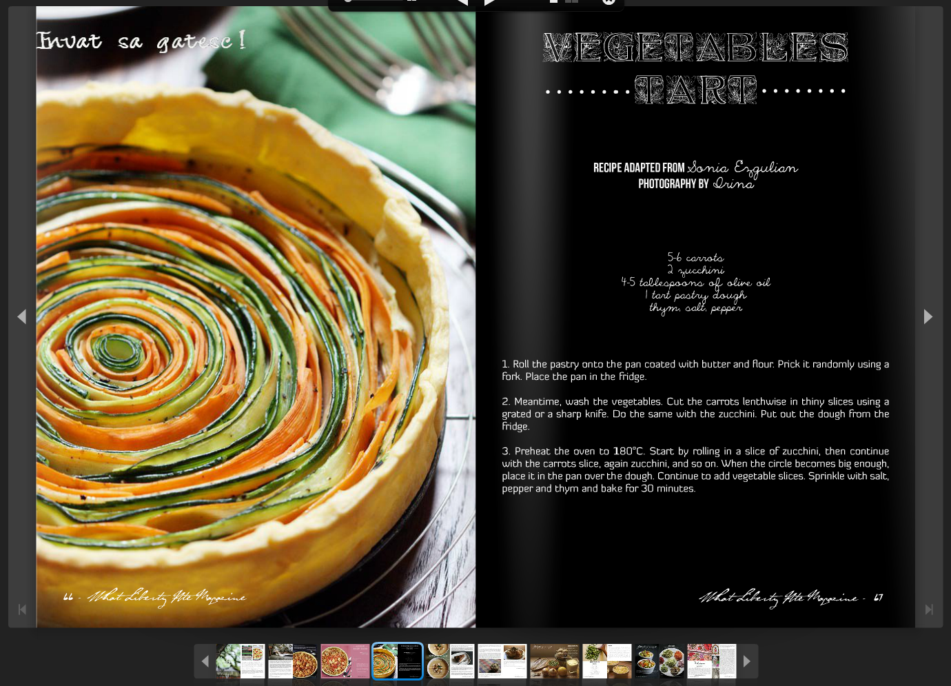 What the finished tart looks like, as made by an expert