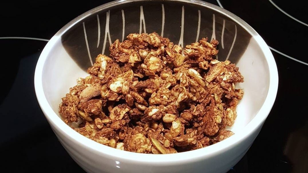 A bowl of this yummy grainless granola